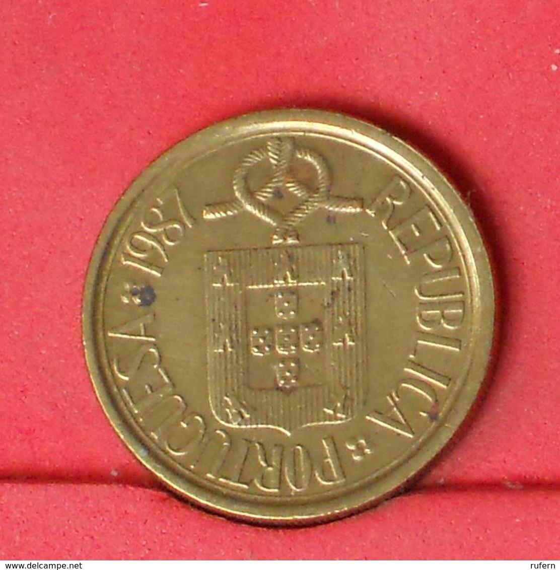 PORTUGAL 10 ESCUDOS 1987 -    KM# 638 - (Nº25832) - Portugal