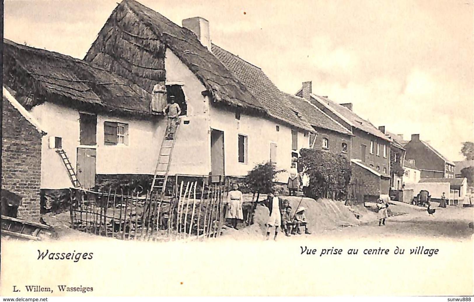 Wasseiges - Vue Prise Au Centre Du Village (top Animation, L. Willem, Toit De Chaume, Précurseur) - Wasseiges