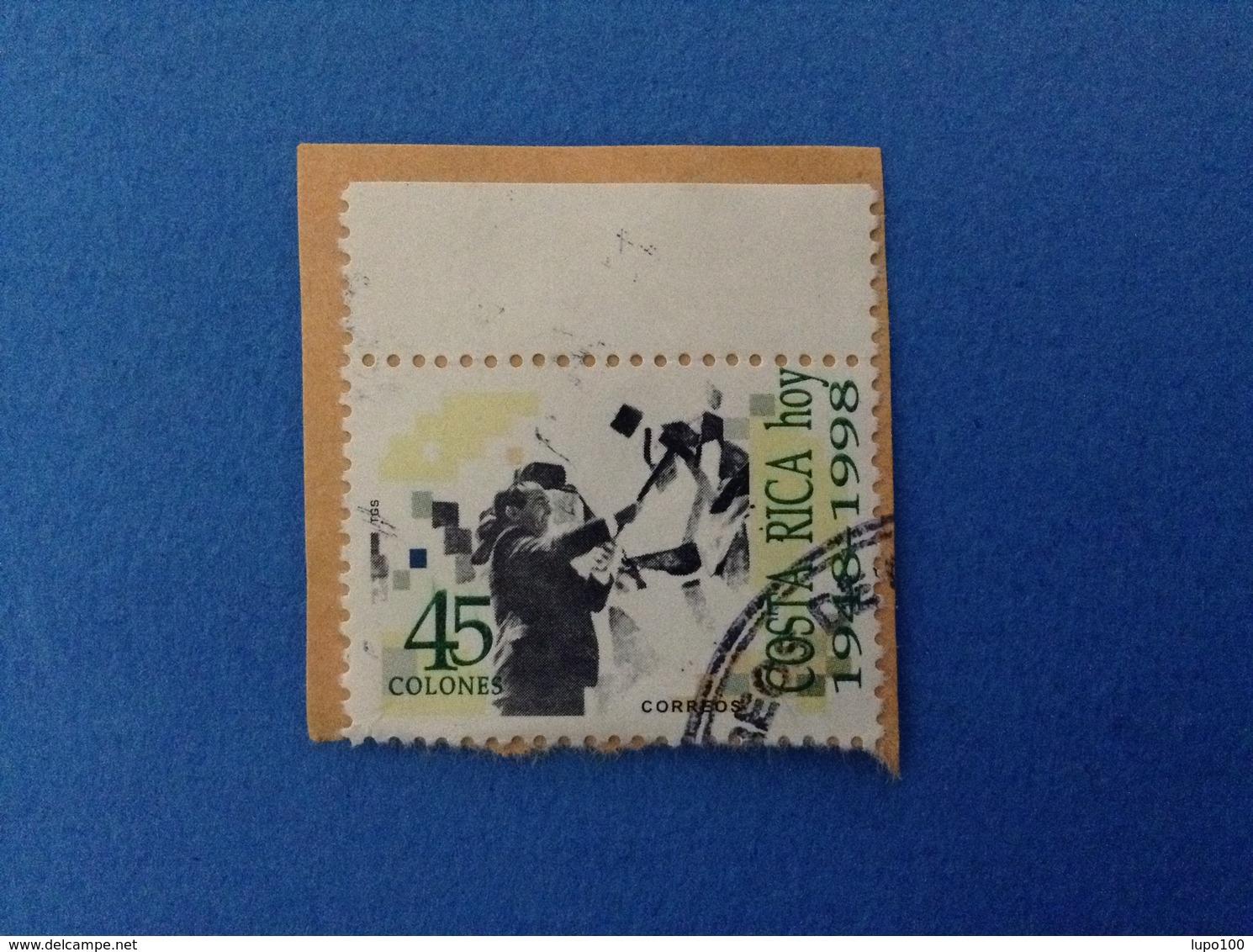 1998 COSTA RICA FRANCOBOLLO USATO STAMP USED 45 C - Costa Rica