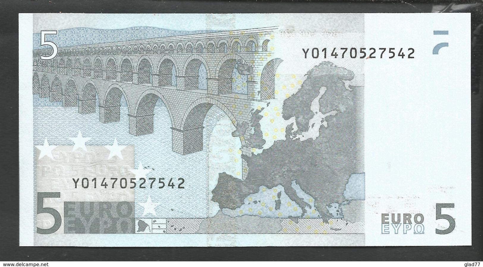 "Greece  ""Y""  5  EURO GEM UNC! Duinseberg Signature! Printer N001G1! - EURO"