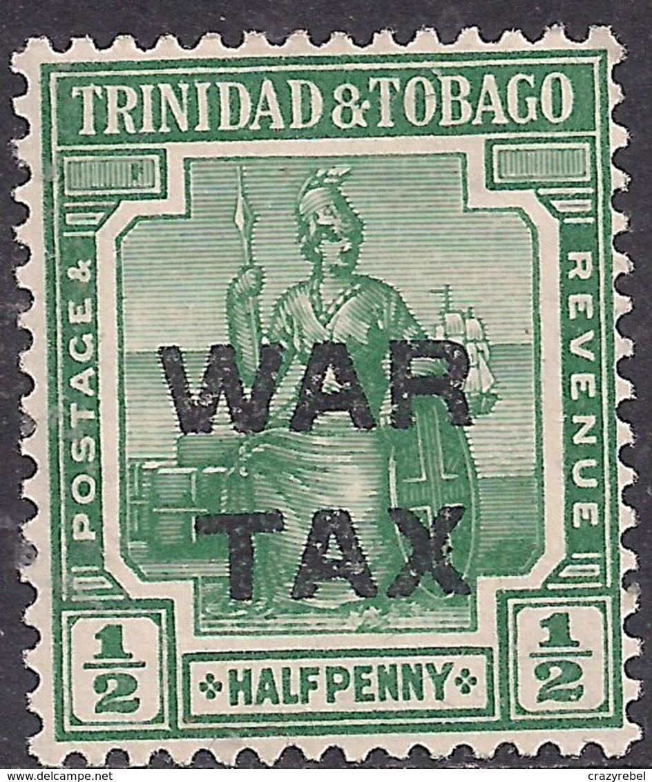 Trinidad & Tobago 1917 KGV 1/2d Deep Green Ovpt War Tax Umm SG 181a ( G1403 ) - Trinidad & Tobago (...-1961)