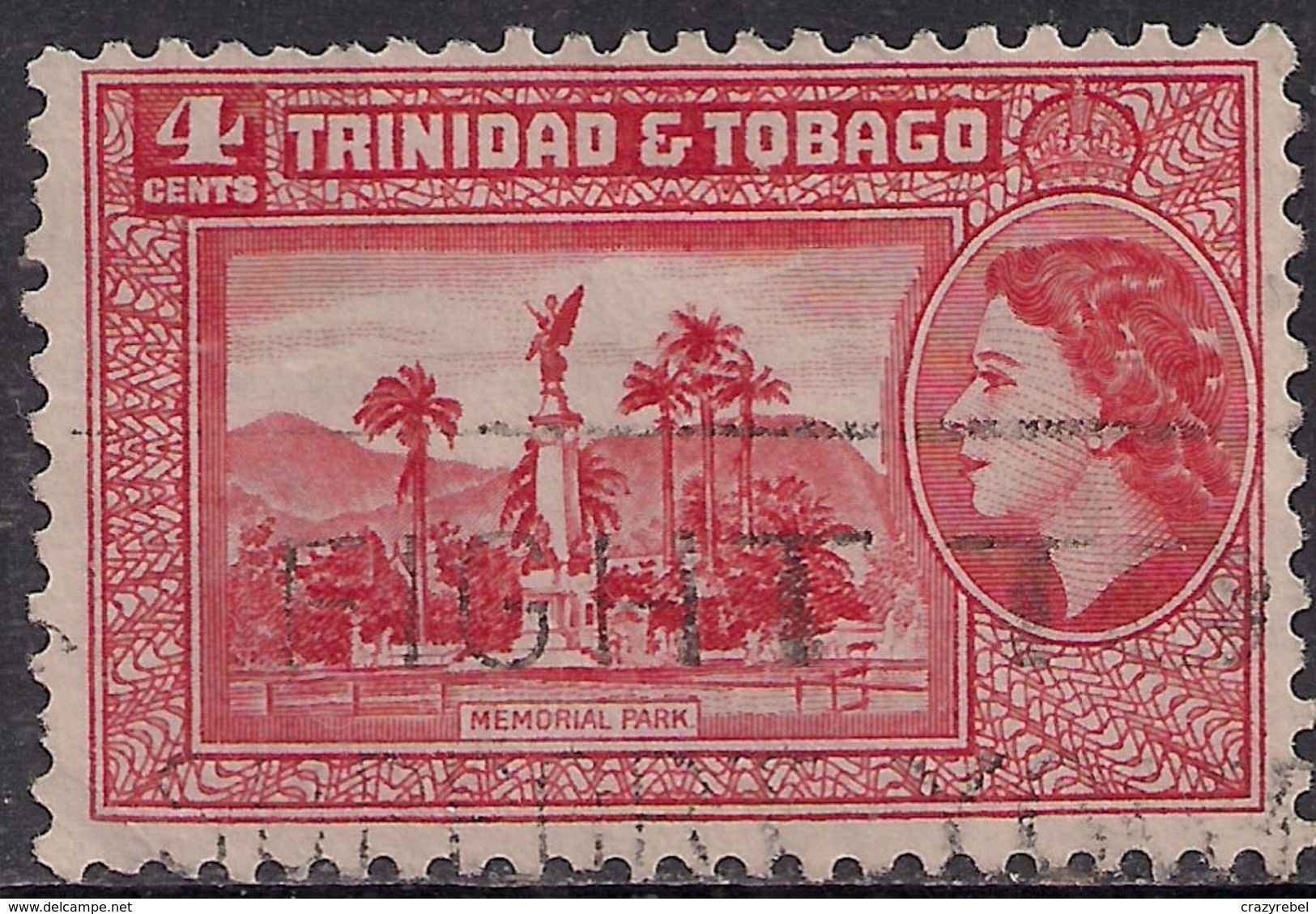 Trinidad & Tobago 1953 - 59 QE2 4cts Scarlet SG 270 ( G1410 ) - Trinidad & Tobago (...-1961)