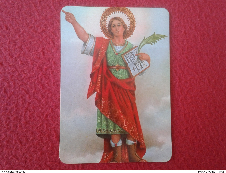 ANTIGUO CALENDARIO OLD CALENDAR DE BOLSILLO MANO IMAGEN RELIGIOSA SANTO HOLY SAINT SACRE SAN PANCRACIO AÑO 2000 RELIGIÓN - Tamaño Pequeño : 1991-00
