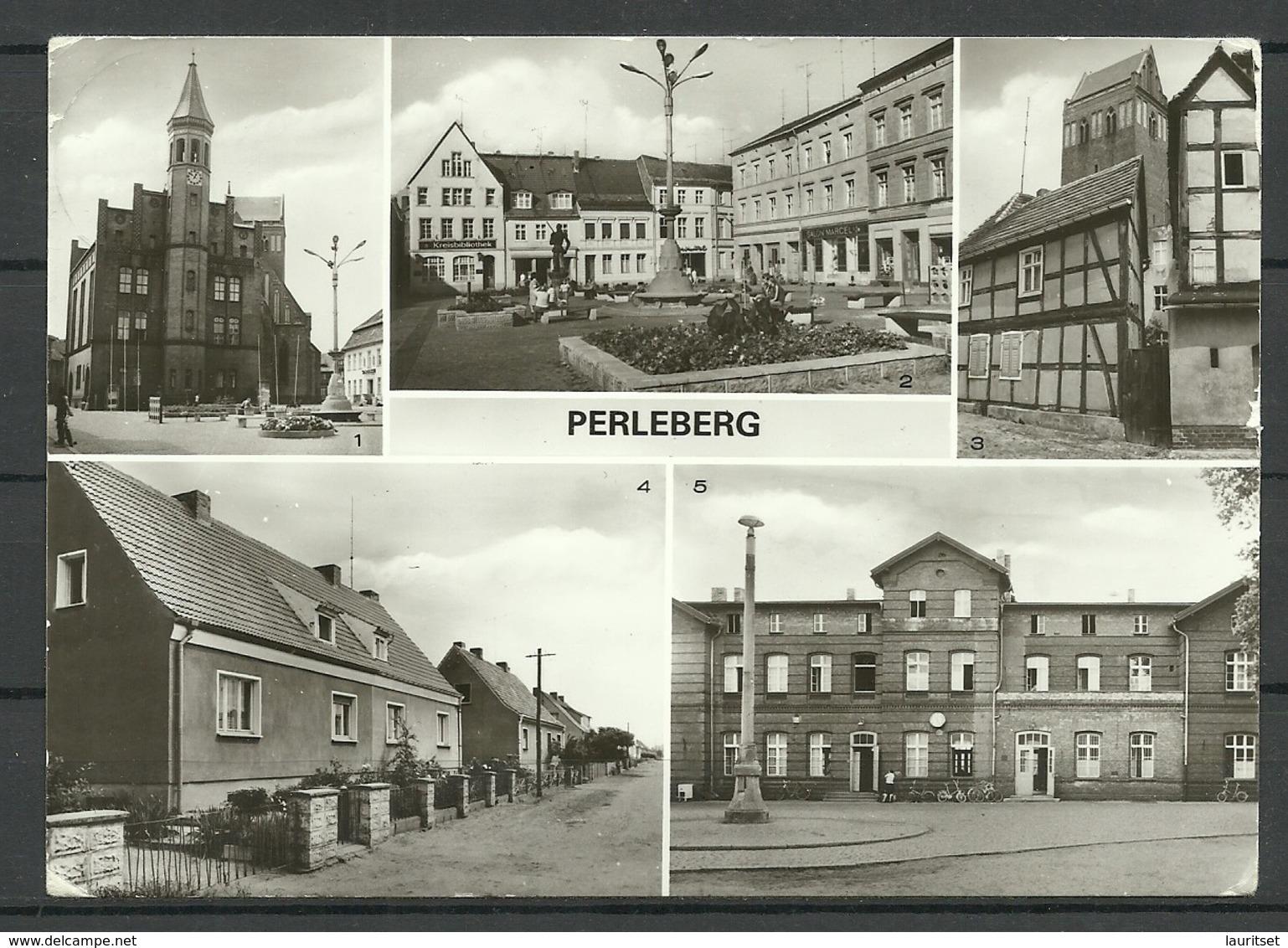 Deutschland DDR 1982 PERLEBERG , Gesendet 1990 - Perleberg