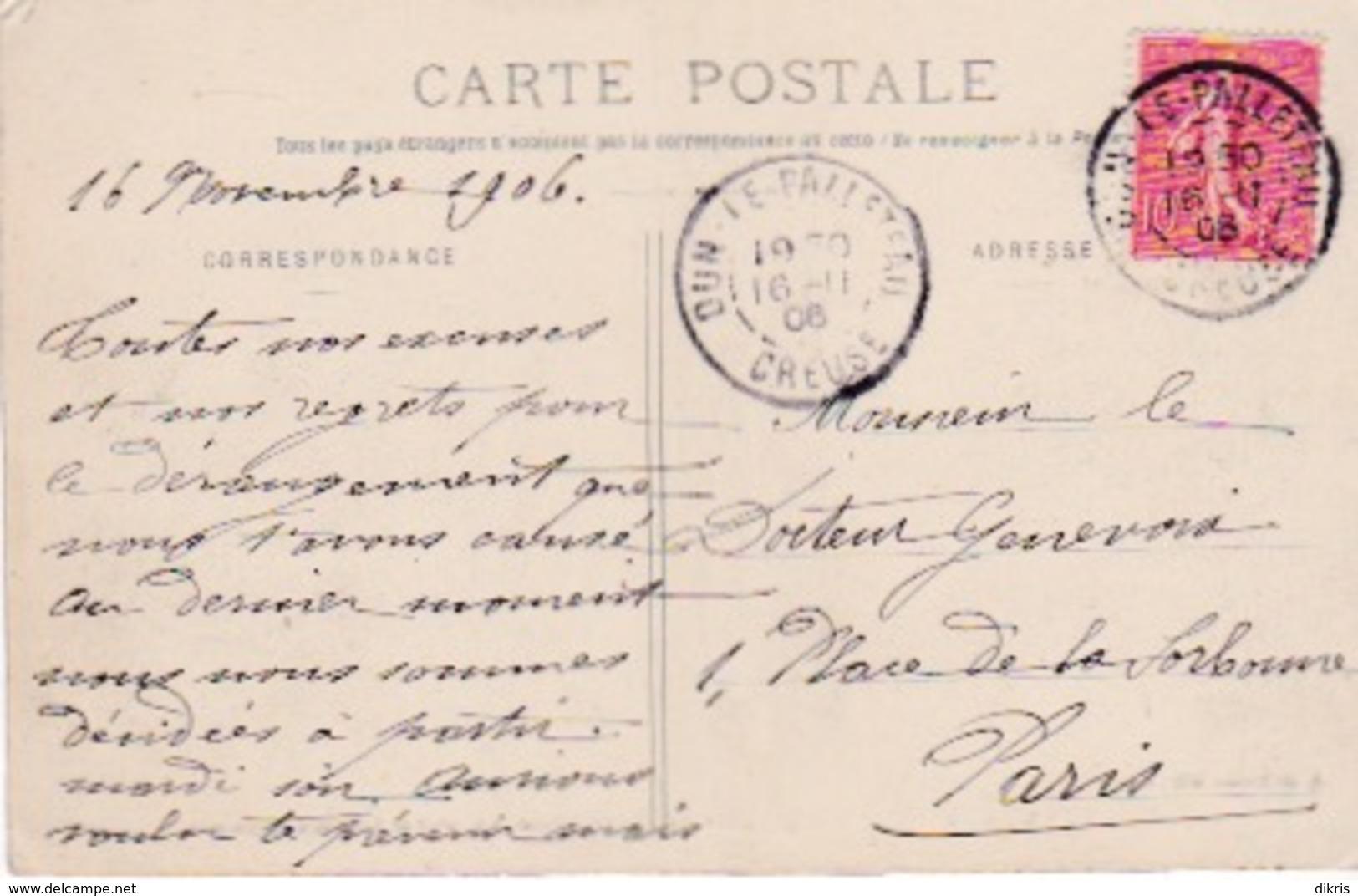 23-DUN-LE-PALLETEAU- CHAMP DE FOIRE ROUTE DE GUÉRET ET AVENUE D'AIGARANDE - Dun Le Palestel
