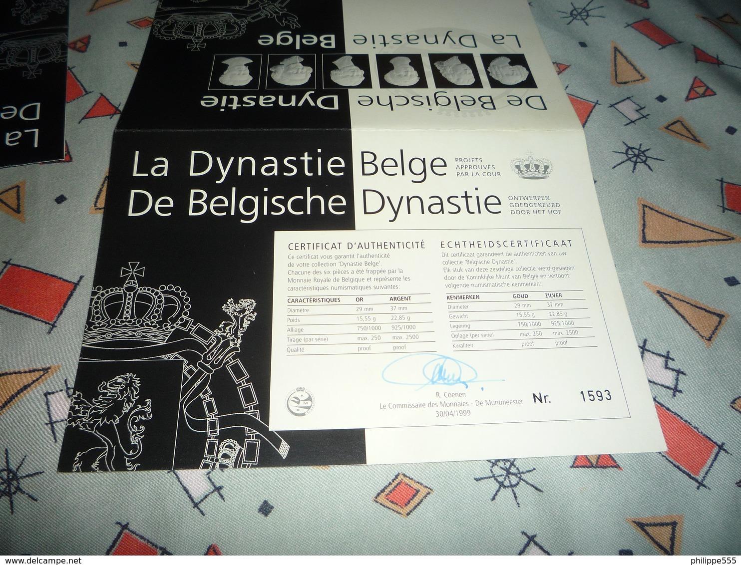 """6 Koningen En 6 Koniginnen """"Belgische Dynastie"""" - Belgique"""