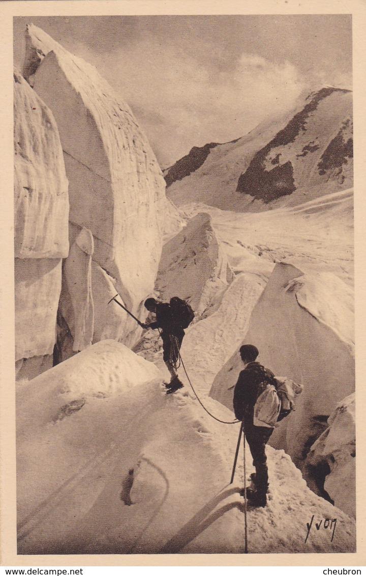 74. CHAMONIX. CPA. ALPINISME. GLACIER DE TRE LA TÊTE. ANNÉE 1933 - Chamonix-Mont-Blanc