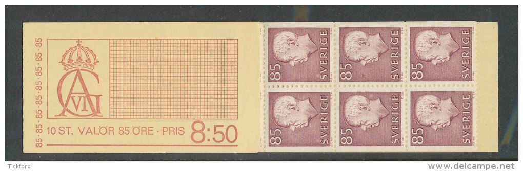 SUEDE 1967 - CARNET  YT C569Aa - Facit H244 - Neuf ** MNH - Série Courante, Gustave VI - Carnets