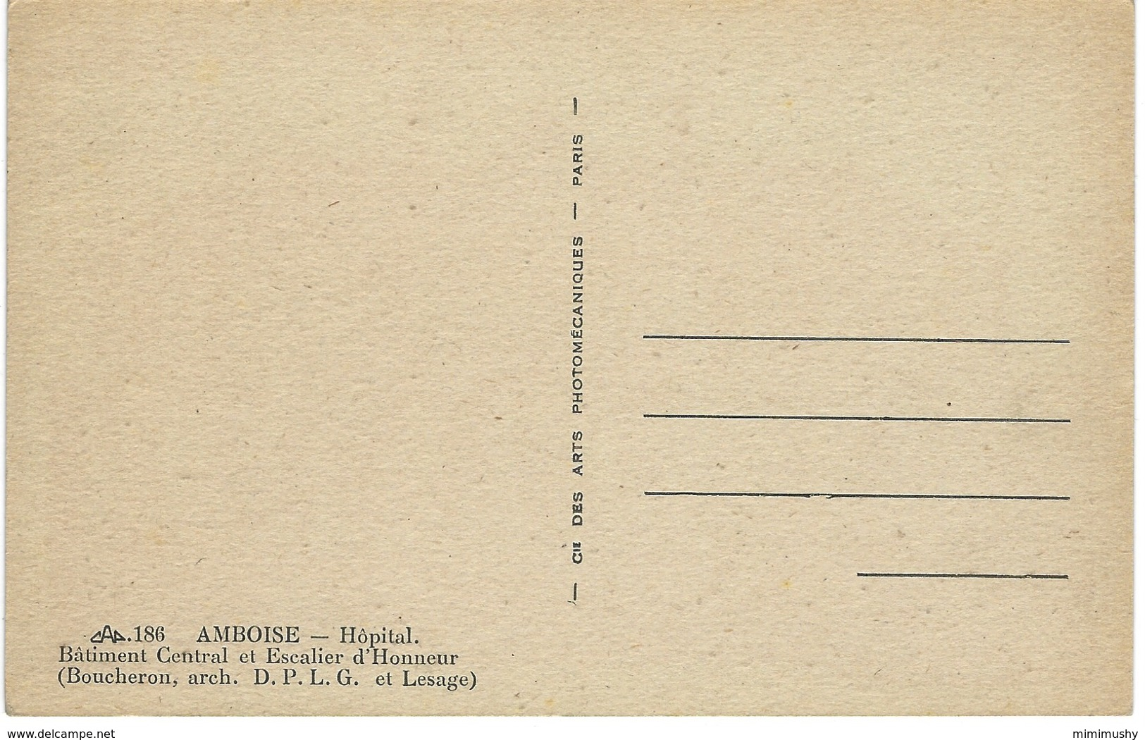 37 - Amboise - Hôpital - Batiment Central Et Escalier D'honneur - Amboise