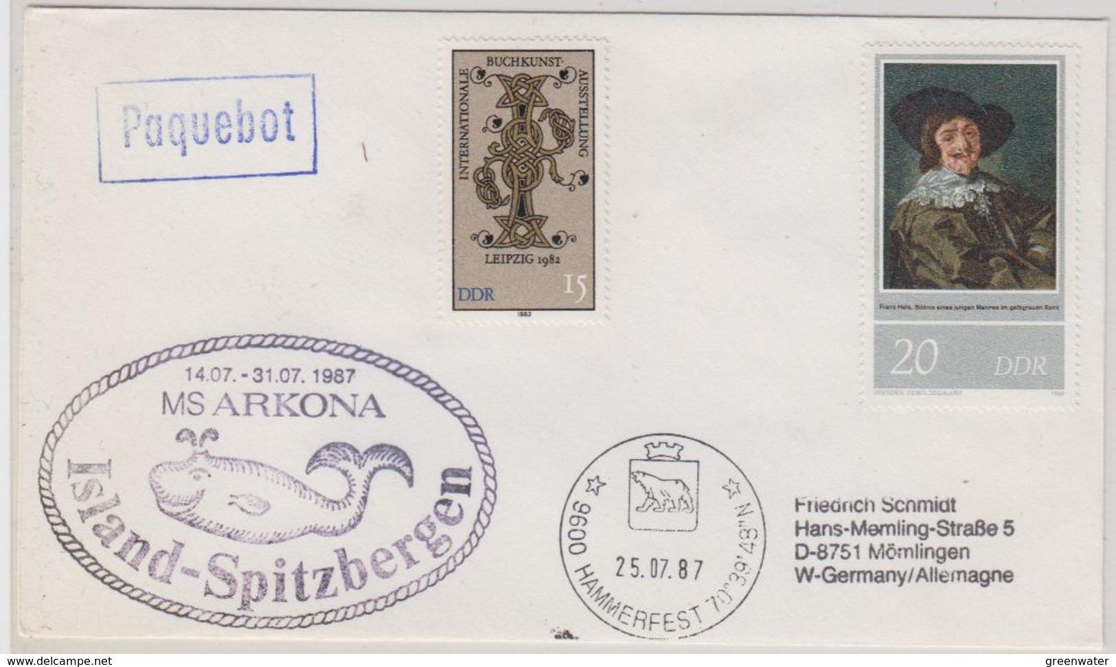 DDR 1987 MS Arkona Cover Ca Hammersfest 25.07.87 (41031) - Poolshepen & Ijsbrekers