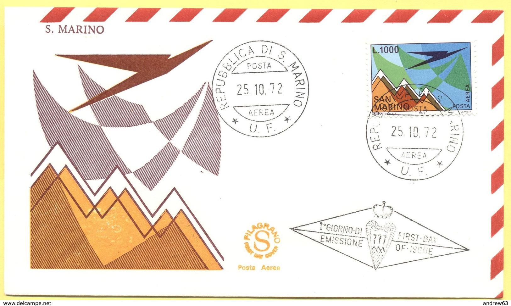 SAN MARINO - 1972 - Posta Aerea - FDC Filagrano - FDC