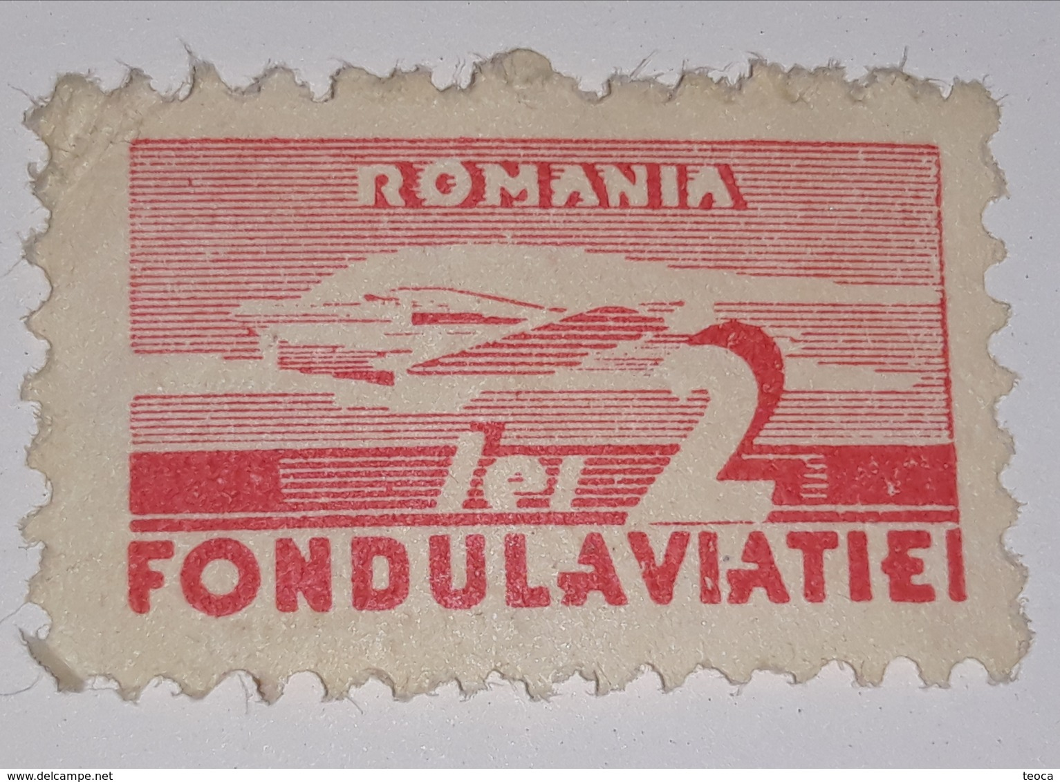 AIRMAIL ROMÂNIA 1930 AVIATION  2 LEI  REDD UNUSED, FONDUL AVIATIEI - Posta Aerea