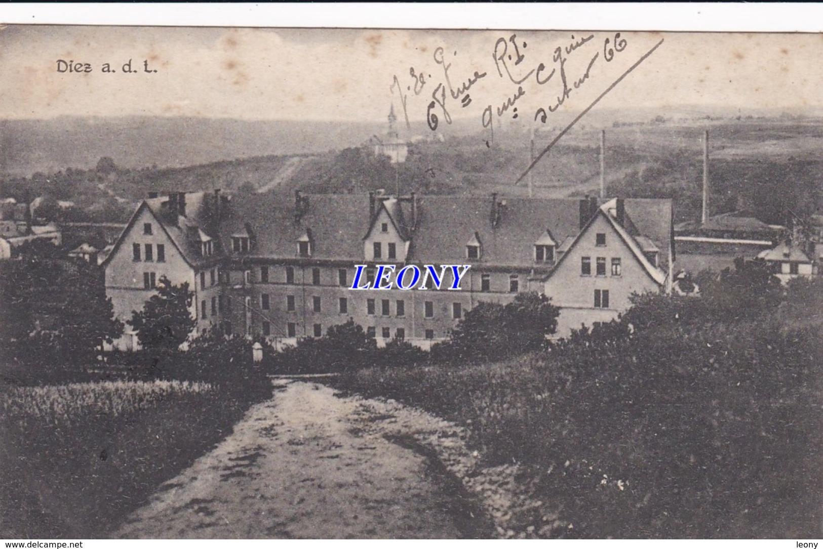 CPA D' ALLEMAGNE - DIEZ A. D. L. 1919 - Diez