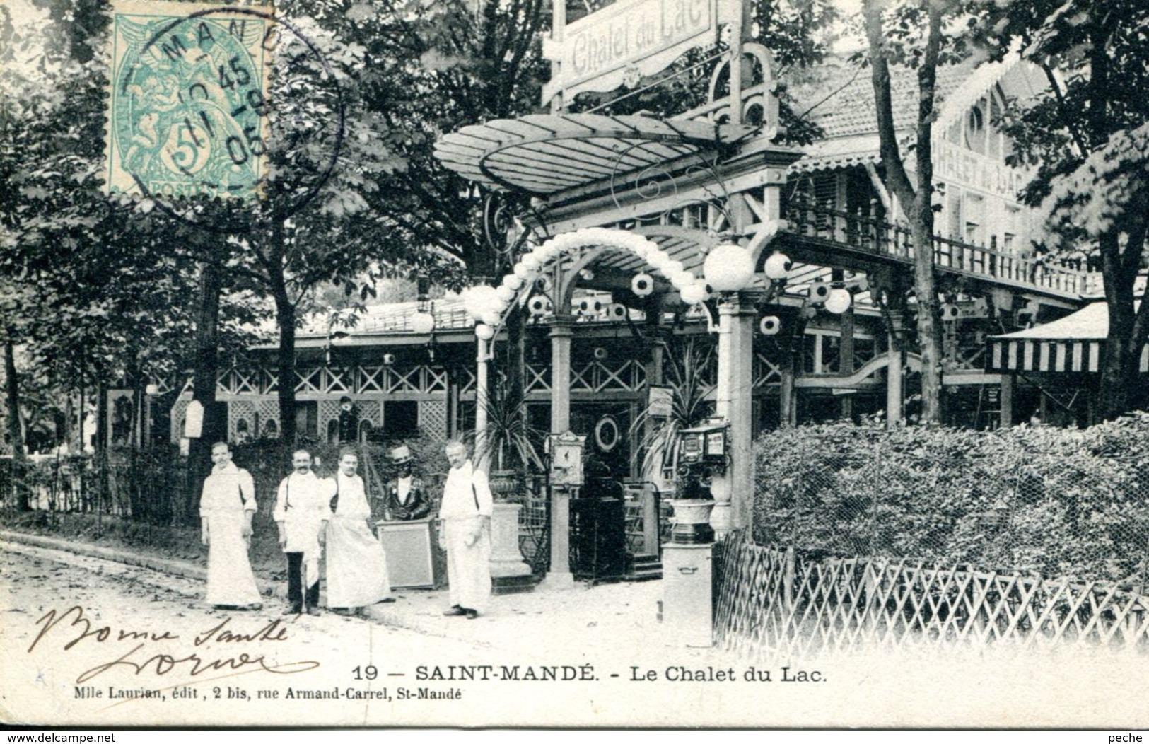 N°2278 A -cpa Saint Mandé -le Chalet Du Lac- - Hotels & Restaurants