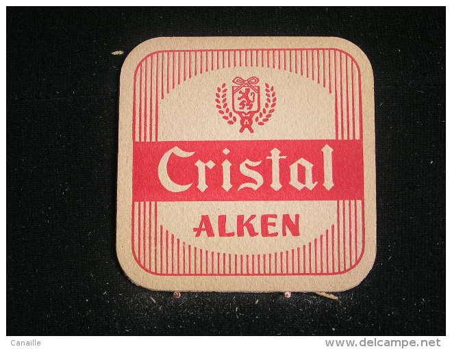 *3 Sous Bock / Bierviltjes /Coasters : Brasserie / Brouwerij - Alken, Brasserie Cristal Alken . .- - Sous-bocks