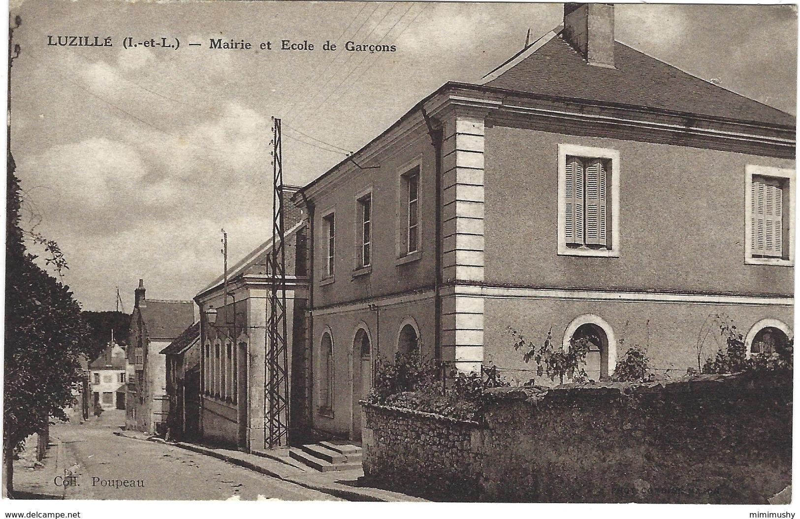37 - Luzillé - Mairie Et école Pour Garçons - Autres Communes