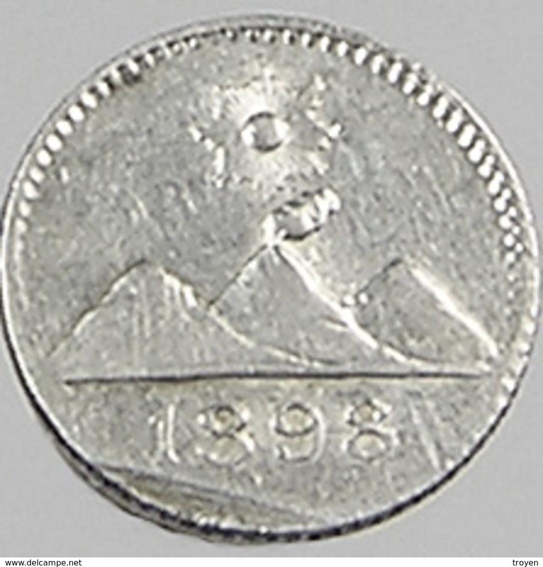 1/4 Réal - Guatemala - 1898 - Argent - TTB - - Guatemala