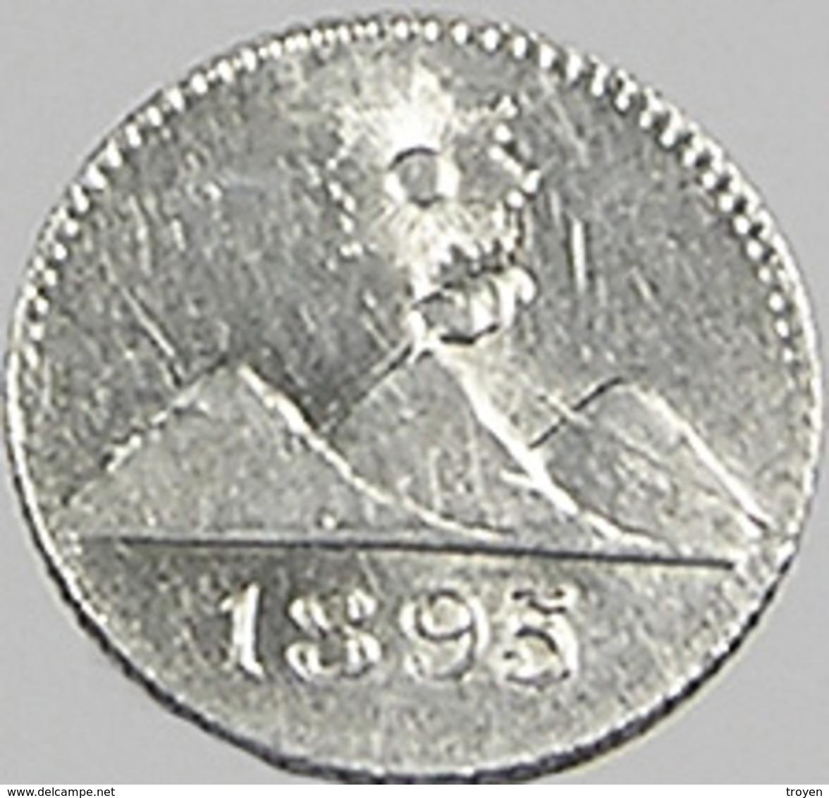 1/4 Réal - Guatemala - 1895 - Argent - Sup - - Guatemala