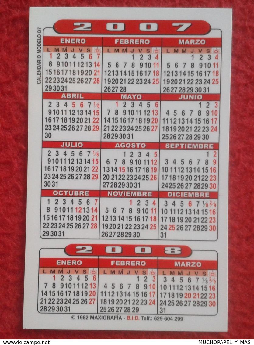 ANTIGUO CALENDARIO OLD CALENDAR DE BOLSILLO MANO 2007 PUBLICIDAD ADVERTISING BAR RESTAURANTE LA TERRAZA LOGROÑO SPAIN - Calendarios
