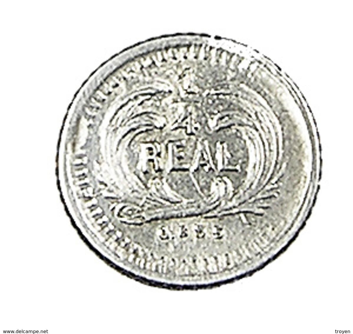 1/4 Réal - Guatemala - 1879 - Argent - 0,835 - TTB - - Guatemala