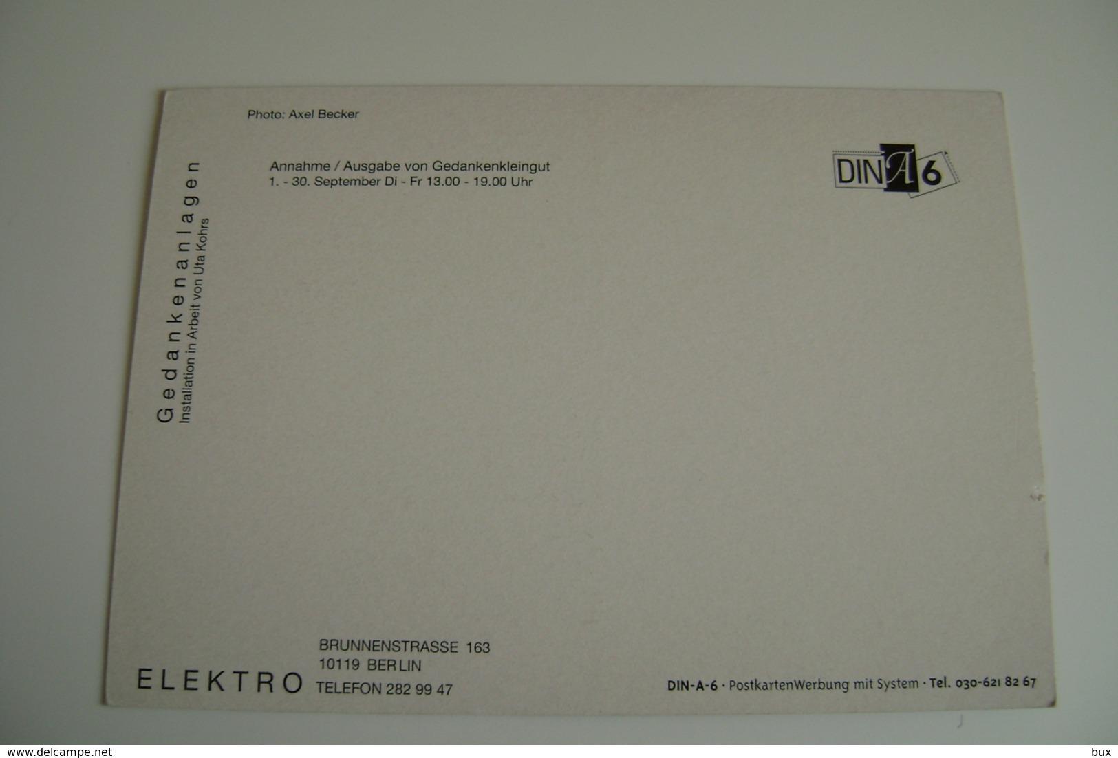 ELEKTRO BERLIN  BERLINO   NEGOZIO  NON   VIAGGIATA PUB  PUBBLICITA - Negozi