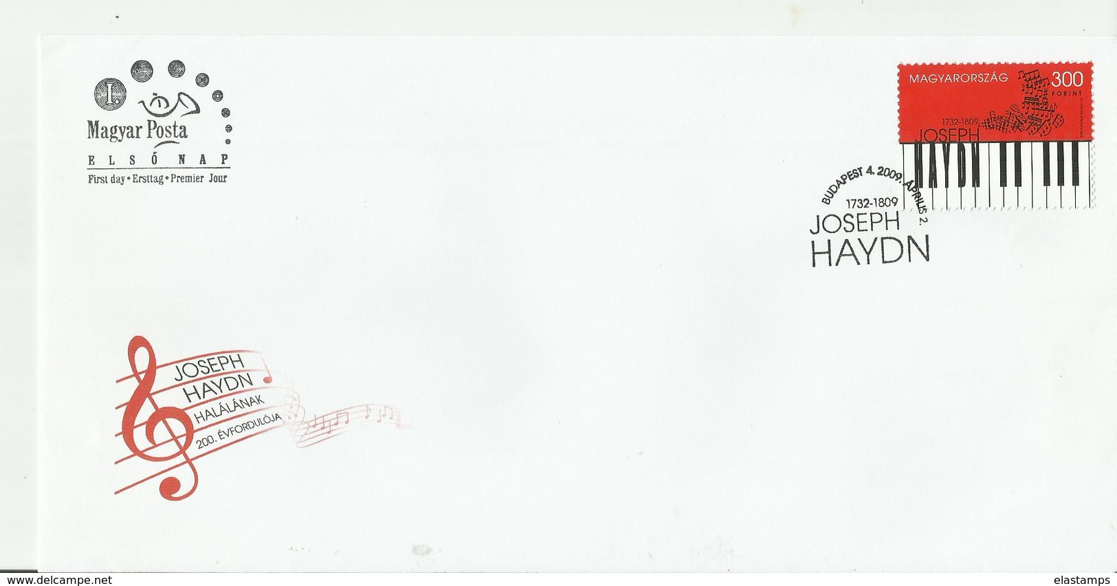 UNGARY CV MUSIK  J.HAYDN - FDC