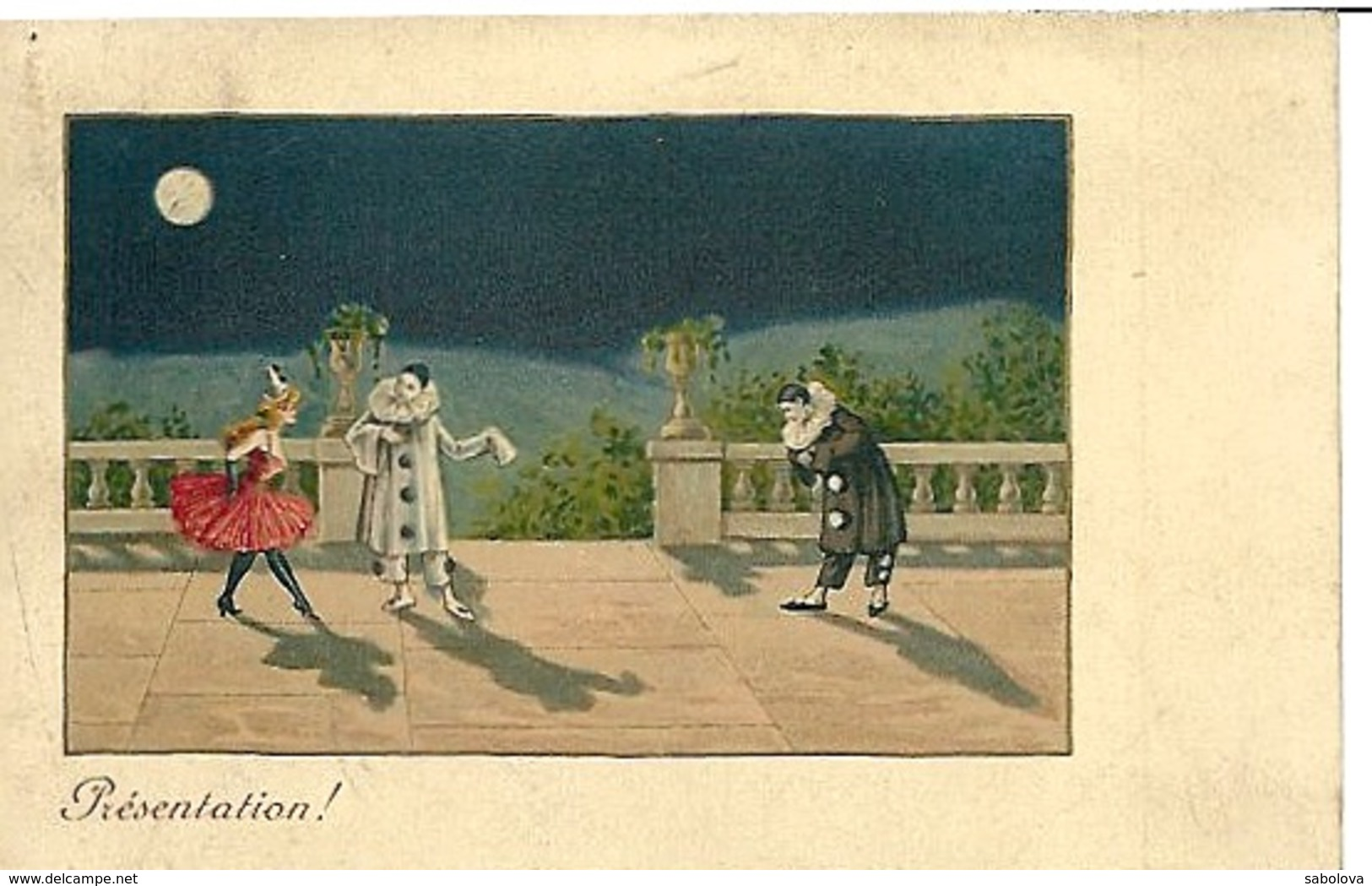 Carte M M Vienne Pierrot Et Colombine - Ricamate