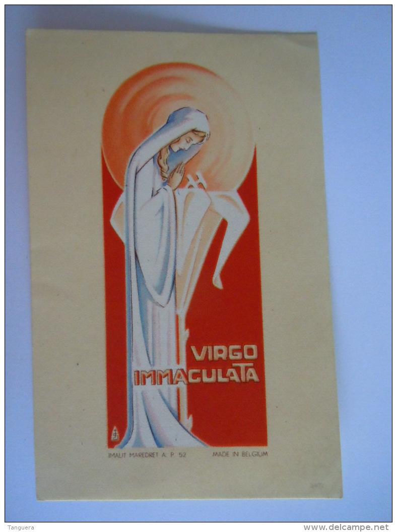 Image Card Santini Virgo Immaculata Maria Illustrator Jos Speybrouck Edit Imalit Maredret 52 Belgium - Devotion Images