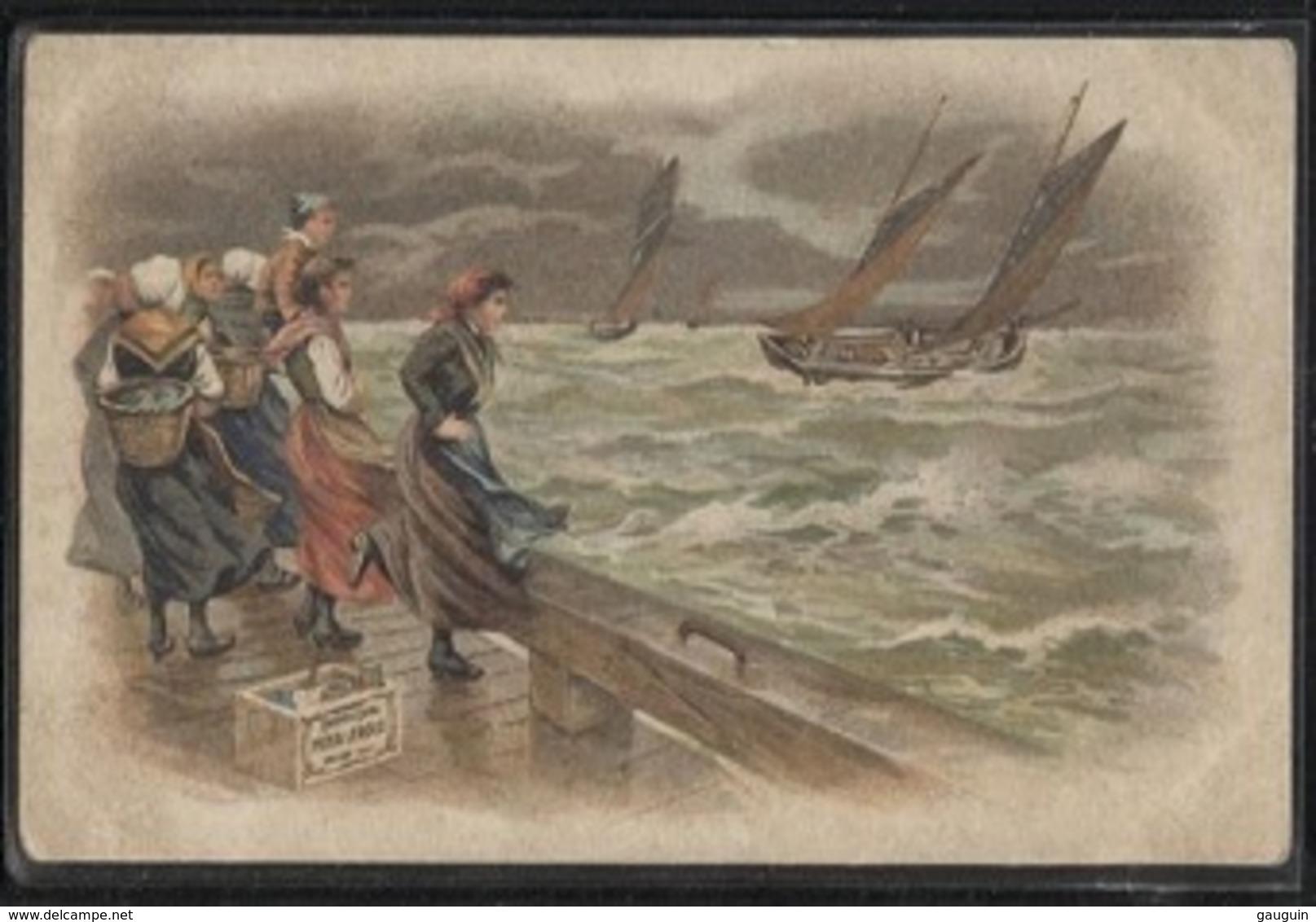 CPA - Scène De Port Illustrée - Edition Pub CHICOREE LEROUX - Pêche