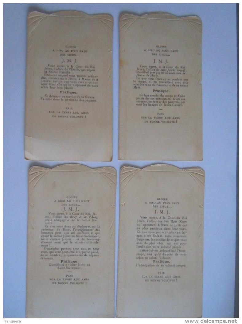 Les Offices à La Chrèche 4 Image Pieuse Holy Card Santini Boumard Fils 5292 - Andachtsbilder