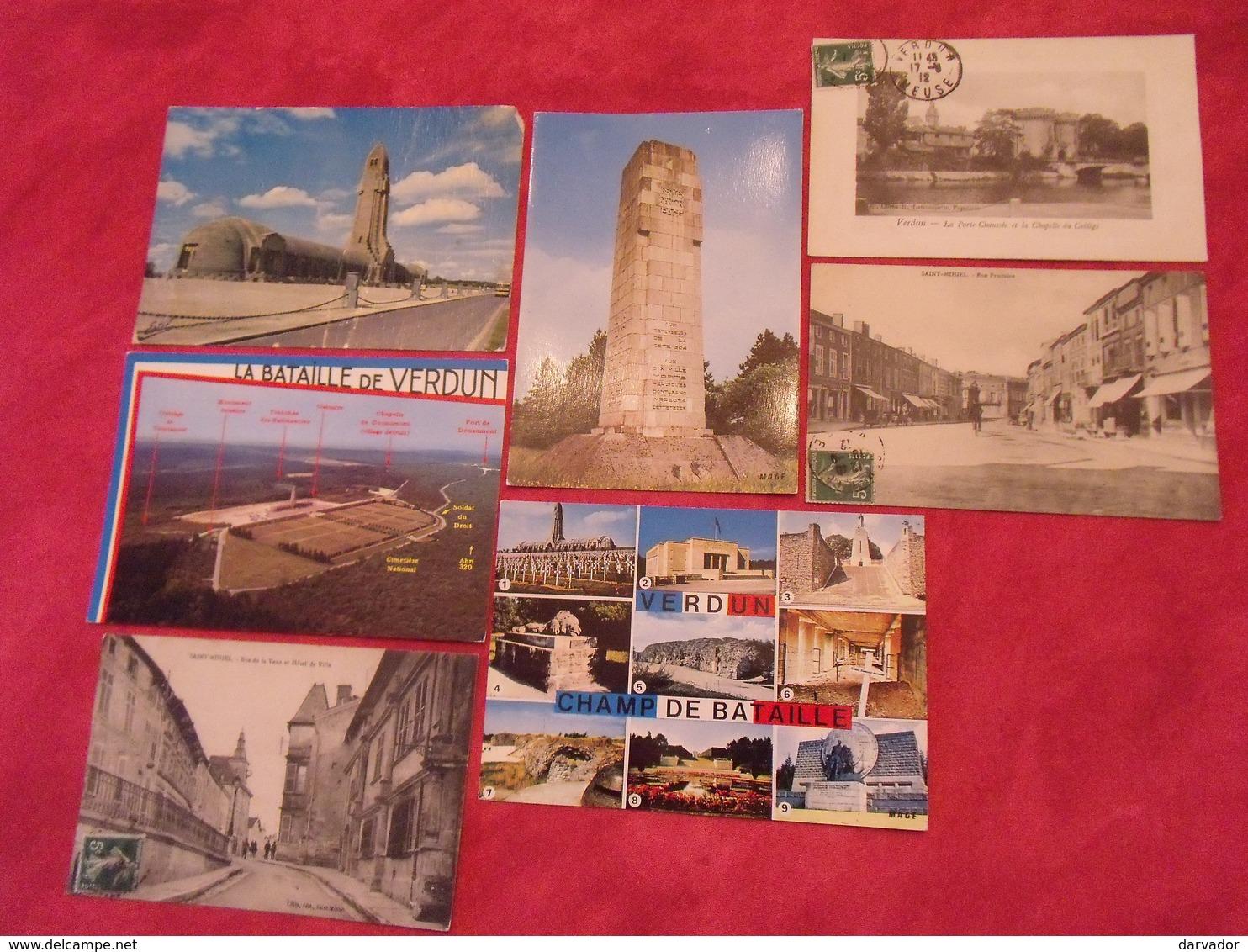 Carte Postale / Meuse  / Département 55 / Lot De 7 Cartes - France