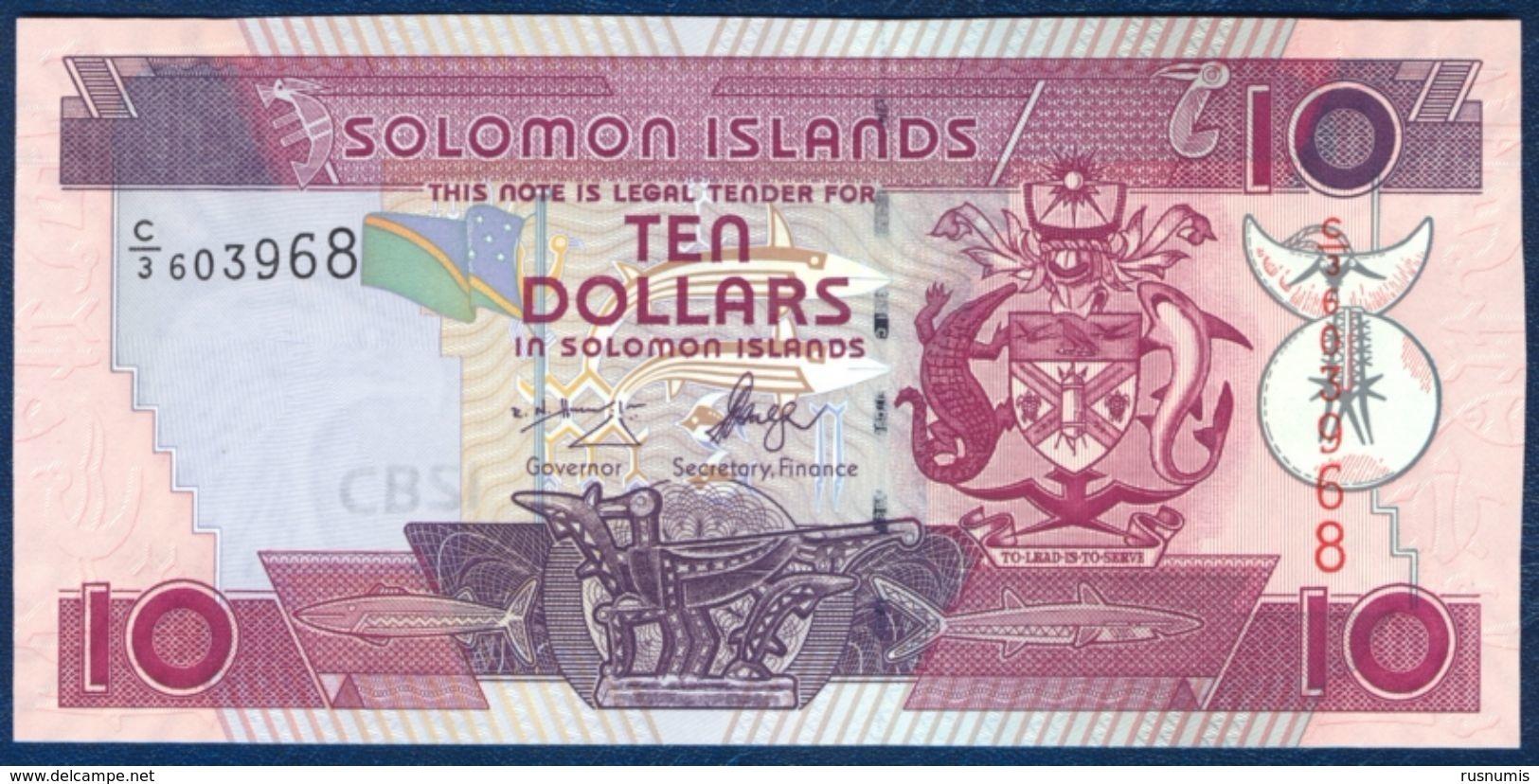 SOLOMON ISLANDS 10 DOLLARS P-27a 2005 UNC - Salomonseilanden