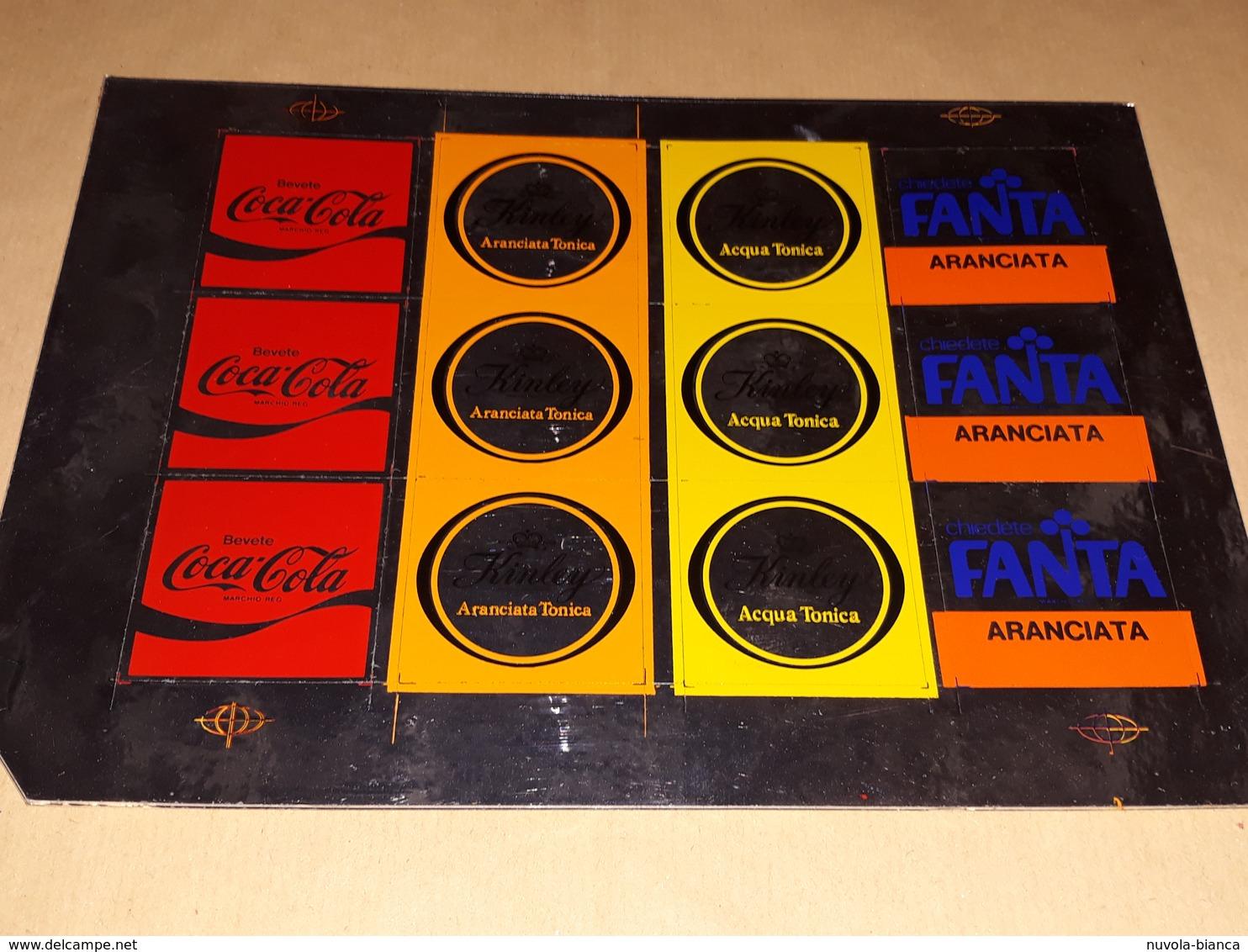 Coca Cola Fanta Adesivi Per Distributori Alla Spina Anni 70 Rari - Adesivi