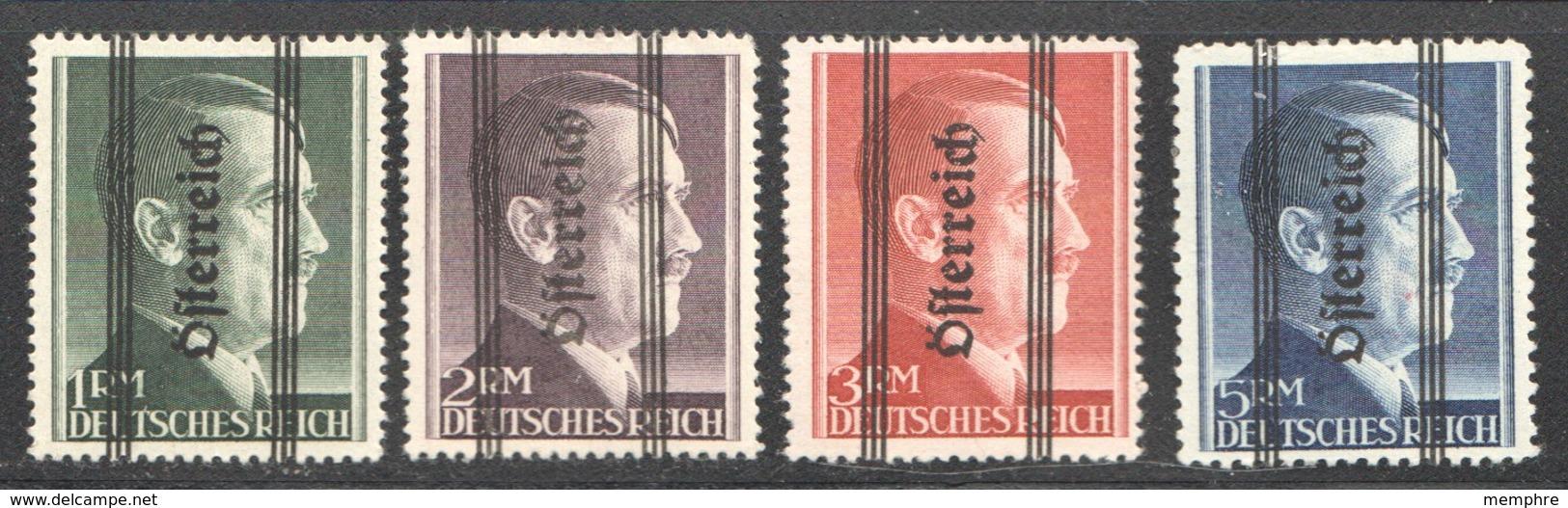 1945 Hitler Grazer-Aufdruck  MiNr 693 I- 696 I *  Gez. 14 - 1945-.... 2ème République