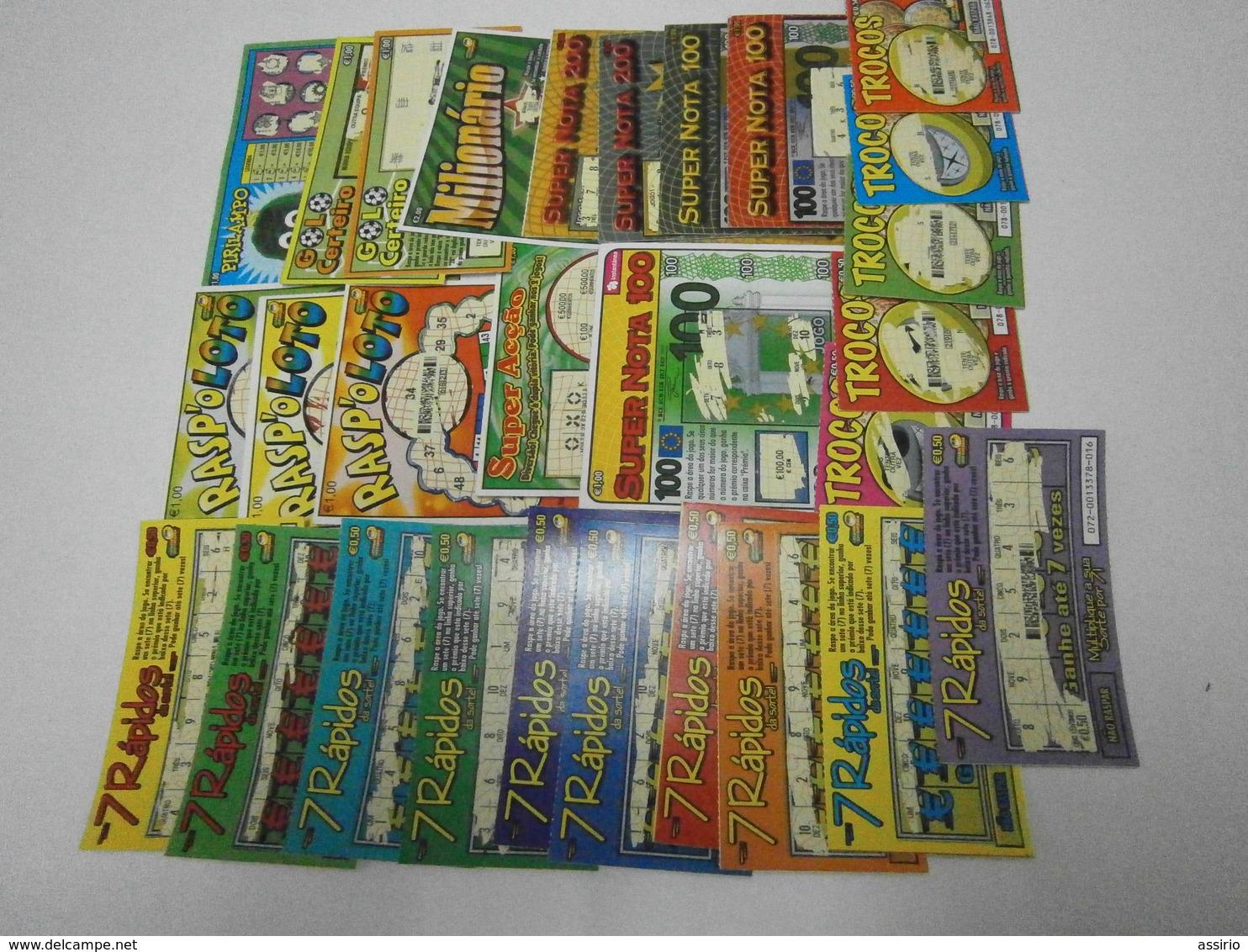 Portugal 275 Raspadinhas Todas Diferentes (oferta De Metade Dos Portes) - Billets De Loterie