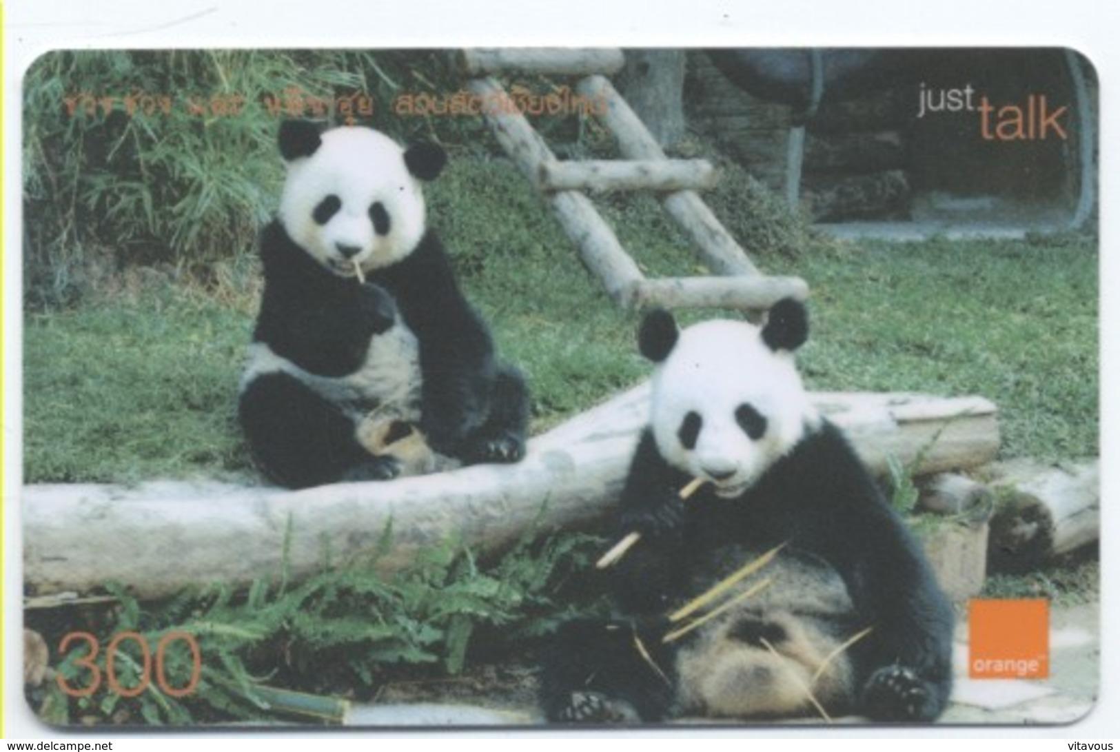 Panda Ours Bear Carte Prépayée Thaïlande Card Card (D 348) - Thaïlande