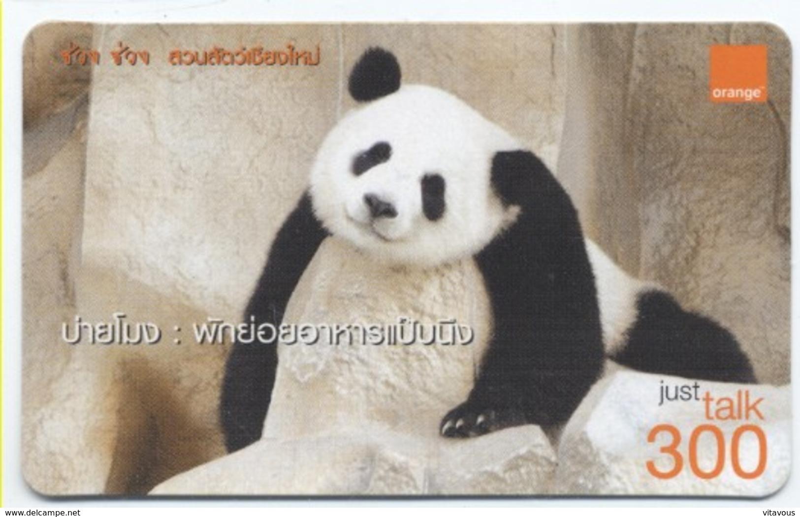 Panda Ours Bear Carte Prépayée Thaïlande Card Card (D 349) - Thaïlande