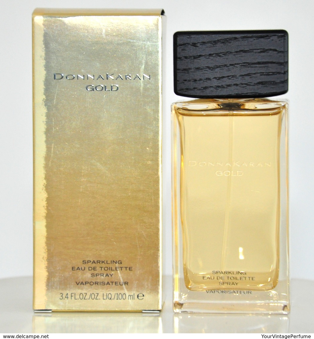 Donna Karan Gold Sparkling Eau De Toilette Edt 100ML 3.4 Fl. Oz. Spray Perfume For Woman Rare Vintage Old 2008 New - Women