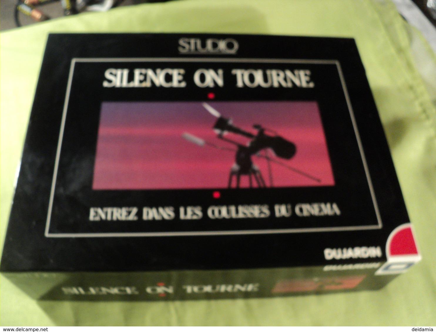 JEU DE SOCIETE SILENCE ON TOURNE. ANNEES 80 / 90. DUJARDIN / STUDIO POUR 2 JOUEURS ET PLUS A PARTIR DE 12 ANS. - Jeux De Société