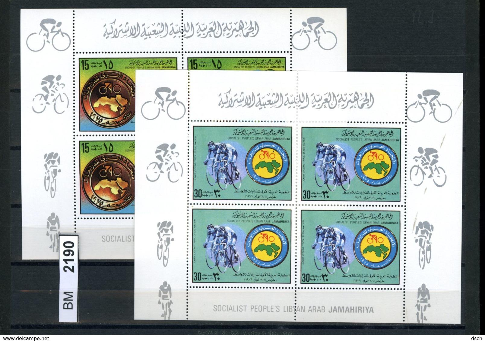 BM2190, Libyen, 1979, Xx, Kleinbogensatz 765, 766 - Libyen