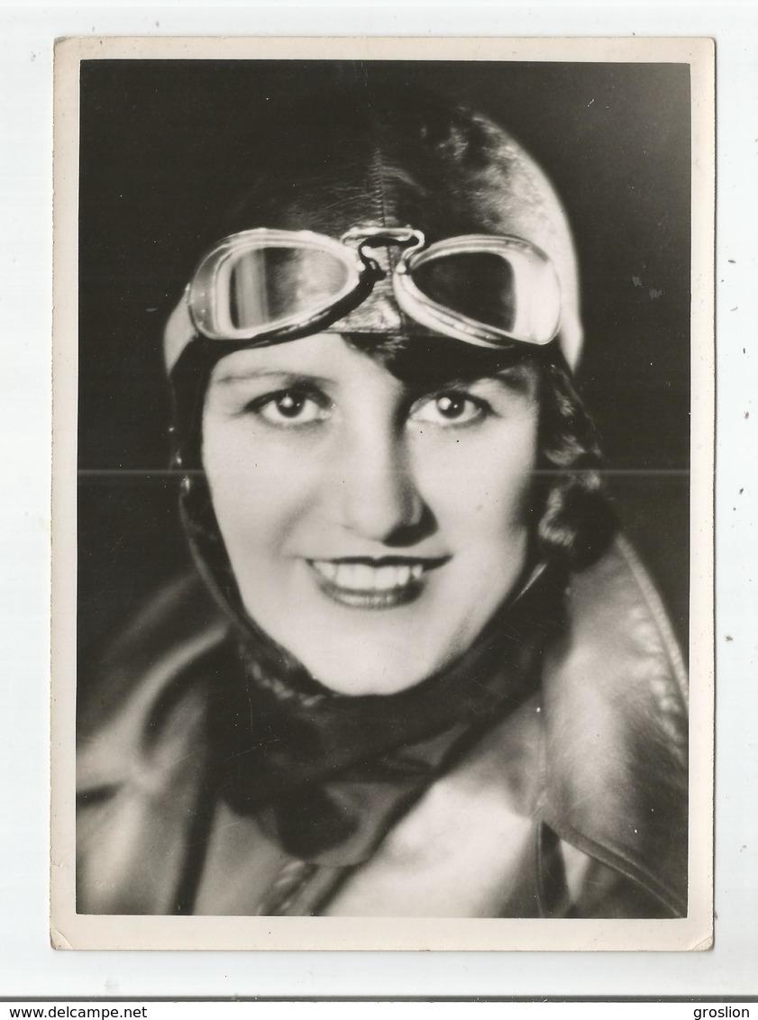 MARYSE BASTIE AVIATRICE FRANCAISE (LIMOGES 1898 BRON 1952) PHOTO ANCIENNE - Aviation