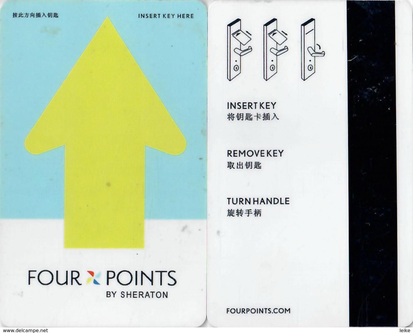 Hotel Key Card, Room Key, Schlusselkarte, Sleutelkaart, Clef De Hotel -Four Points By Sheraton--2346 - Hotel Keycards