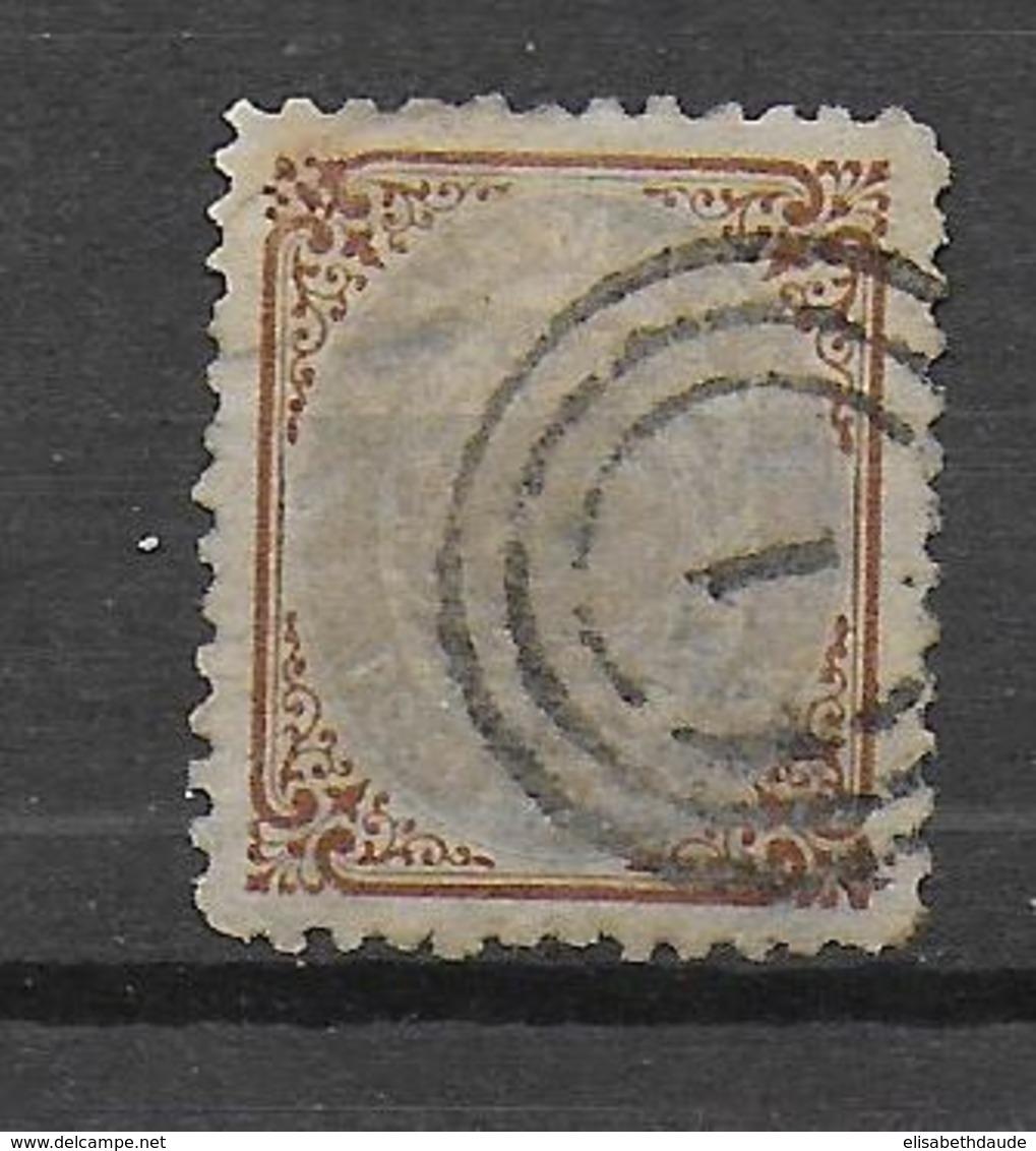 DANEMARK - 1870 - YVERT N° 21 OBLITERE DEFECTUEUX - COTE = 350 EUR. - 1864-04 (Christian IX)