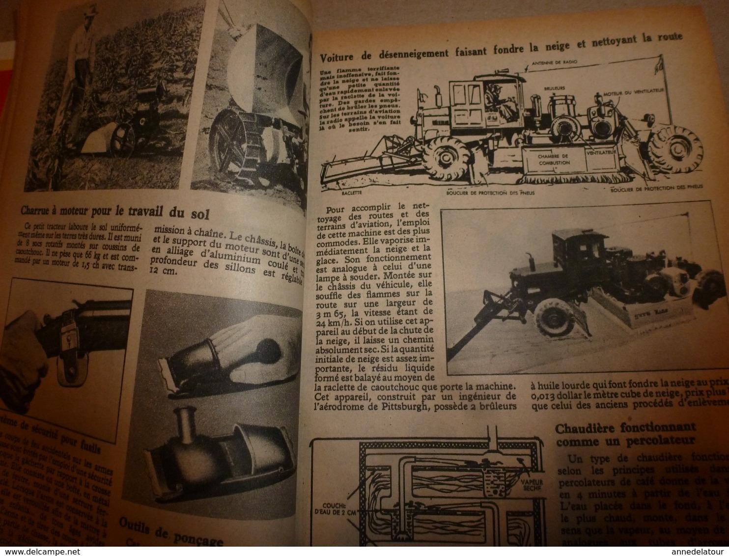 1948 MÉCANIQUE POPULAIRE: Patinage Sur Glace; Etude Des Avalanches; Faire Un Berceau Hollandais;etc - Other