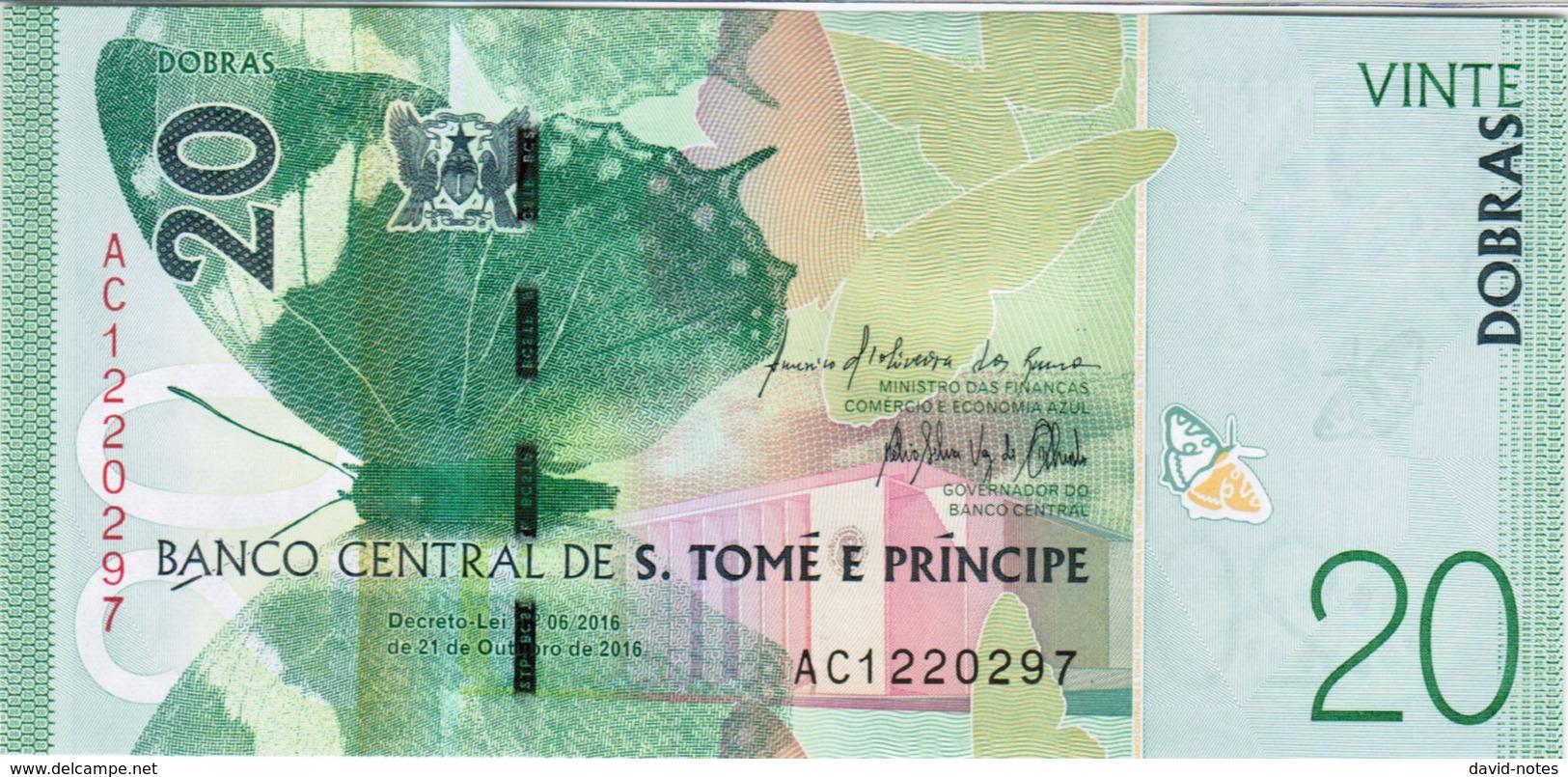 Saint Thomas & Prince - Pick New - 20 Dobras 2016 - 2018 - Unc - Sao Tomé Et Principe