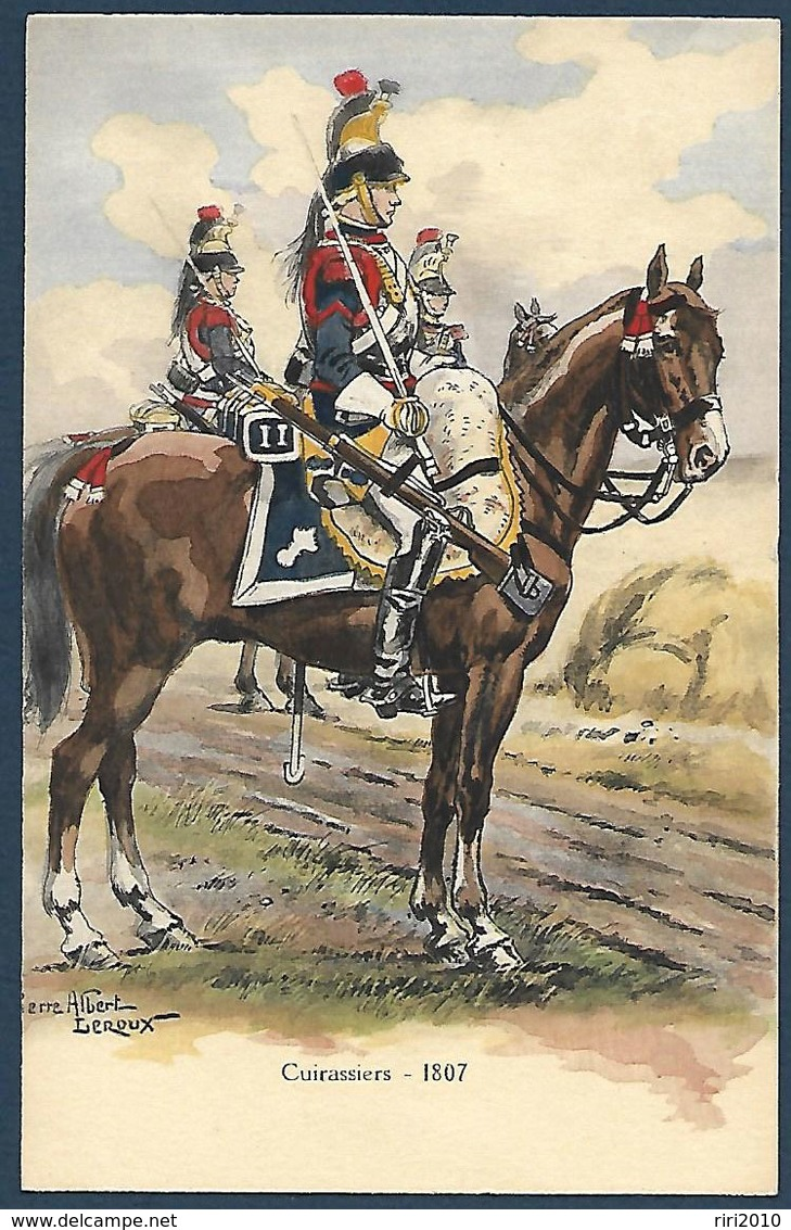 France - Cuirassiers - 1807 - Illustration Pierre Albert Leroux - Uniformes