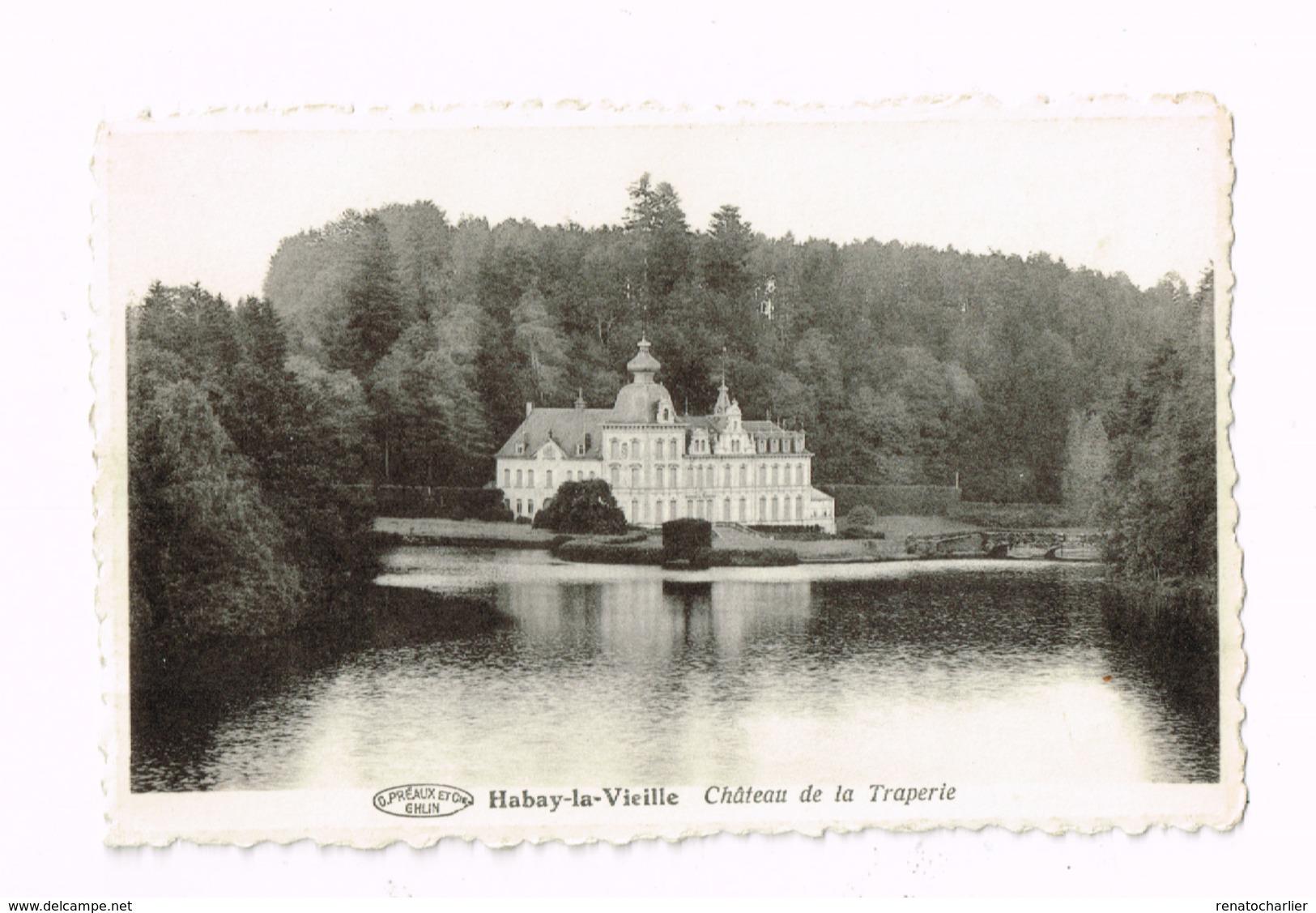 Habay-la-Vieille. Château De La Traperie.Expédié De Libramont à Woluwe-St-Lambert. - Habay