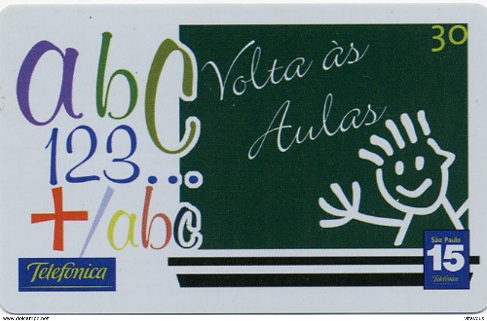 Jeu D'enfant Dessin Tableau école   Télécarte Telefonkarte Phonecard D 368) - Jeux