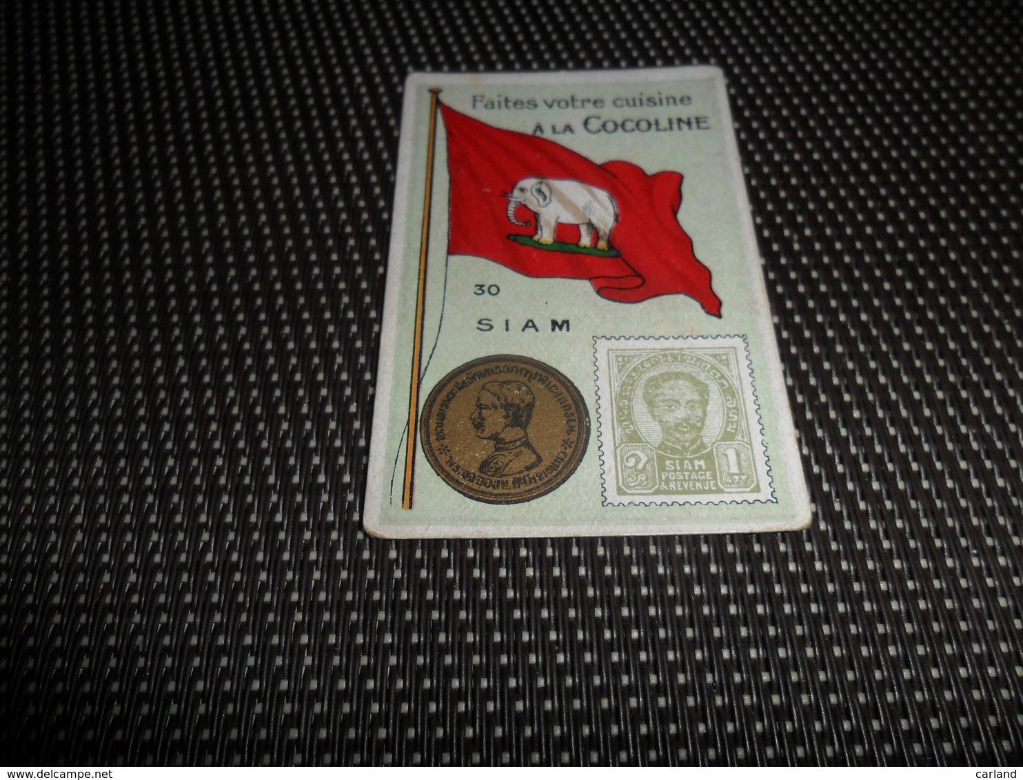 Chromo ( 6756 ) Usines De Bruyn Termonde Dendermonde - Pièce De Monnaie  Timbre  Drapeau -   Siam - Autres