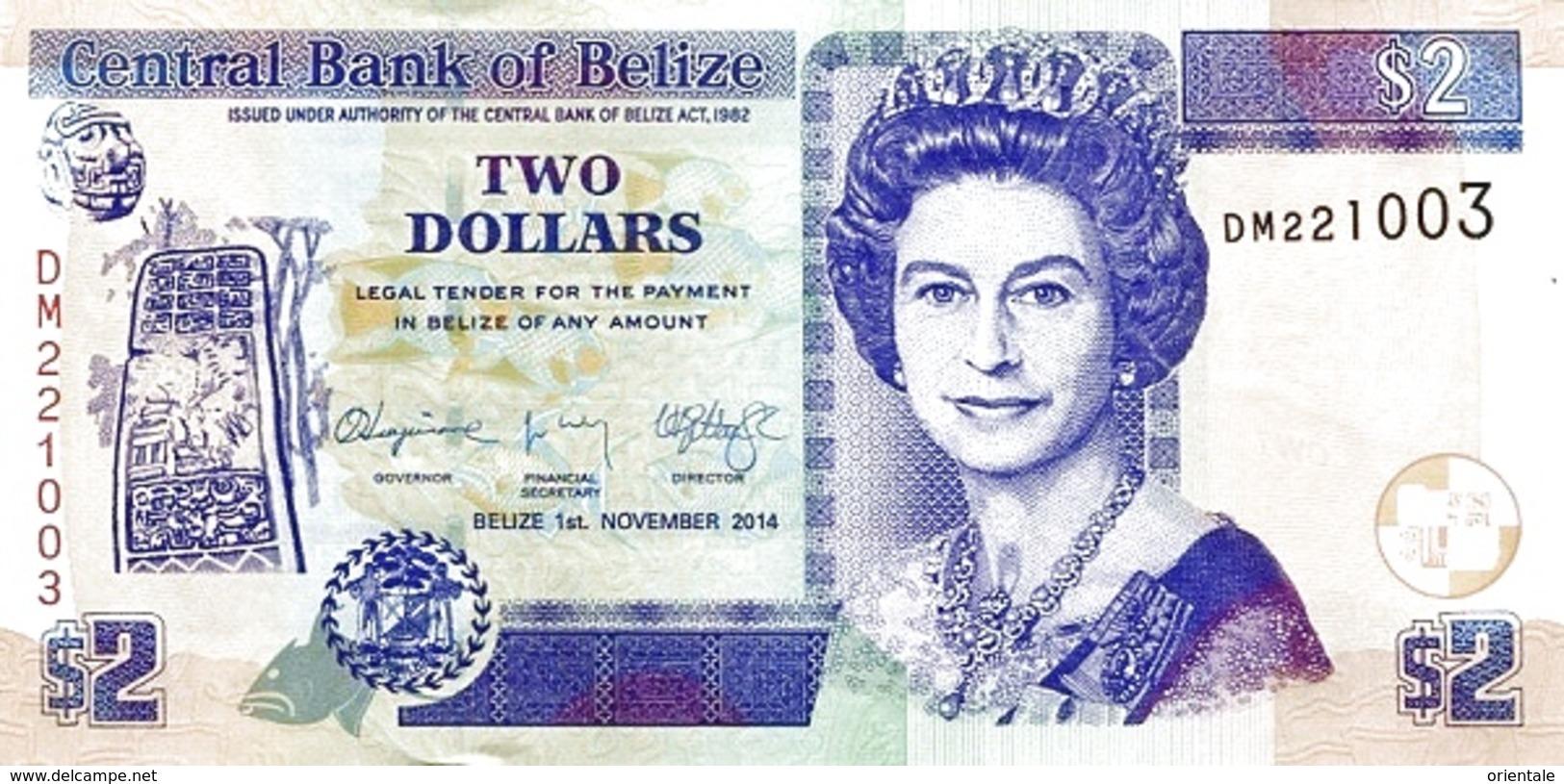 BELIZE P. 66e 2 D 2014 UNC - Belize